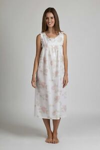 Night Dress Floral with Shoulder Buttons