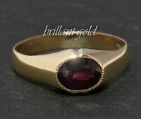 Antiker 2ct Granat Ring aus 333 Gold, Rotgold, Goldschmied Handarbeit um 1920