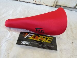 FLITE RED SCOTTS 1980S SEAT PAD COVER BMX CRUISER FREESTYLE RACING VINTAGE NOS