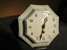 Antike Küchenuhr aus Porzellan um 1910 / Hamburgisch- Amerikanische Uhrenfabrik