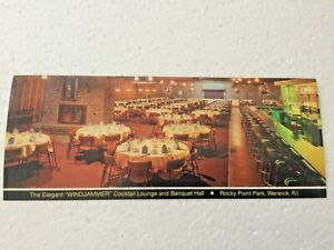 Vintage Rocky Point Amusement Park Windjammer Cocktail Lounge RI Postcard