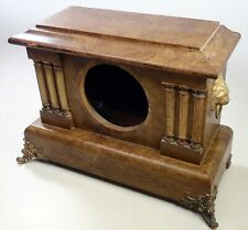 Antique Seth Thomas Adamantine Mantel Shelf Clock Case Parts Repair