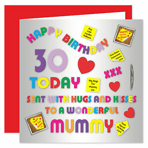 Mummy Happy Birthday Card - Age Range 18 - 50 Years - Alphabet Design