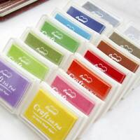 Rubber Stamps Craft Ink Pad for Paper Wood 18 Colours Card Making Invitation