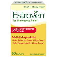 ESTROVEN Maximum Strength + Energy 60 Caplets *Multi-Symptom Menopause Relief*
