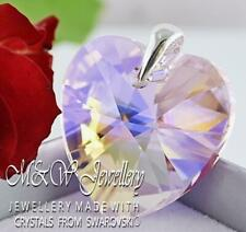 925 SILVER LARGE PENDANT CRYSTALS FROM SWAROVSKI® 28MM HEART - Rosaline AB