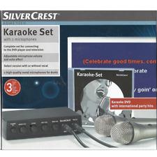 Karaoke Set Anlage Silvercrest TM210 zum Anschluss an DVD-Player und TV