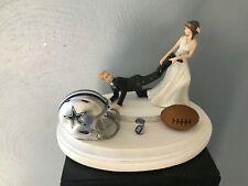 Dallas Cowboys Cake Topper Bride Groom Wedding day NFL Funny Football Theme