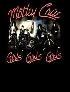 MOTLEY CRUE - GIRLS GIRLS GIRLS CD ALBUM COVER Official SHIRT LRG new