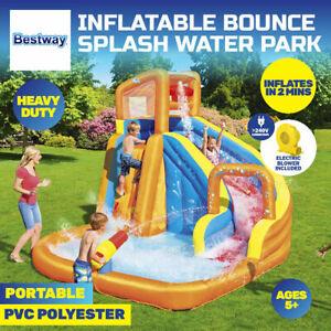 Bestway H2OGO! Inflatable Mega Water Park Pool Slide with Electric Blower