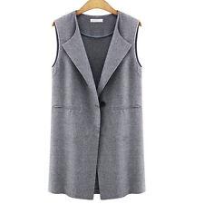 Women Winter Sleeveless Waistcoat Jacket Blazer Vest Coat Gilet Tops Bodywarmer