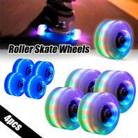 4PCS Luminous Quad Roller Skate Wheels Light Up with BankRoll Bearings Installed