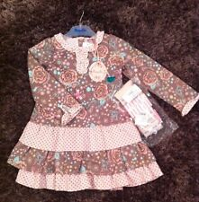 Designer - Pampolina Ice Princess Pink Dress & Cotton Tights Set RRP:£59.99 BNWT