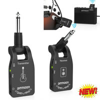 ammoon Wireless Guitar System 2.4G 6 Channels Audio Transmitter Receiver