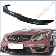 Fit 12-14 BENZ W204 C63AMG Sedan Coupe Front Bumper BS Look Carbon Fiber Add Lip