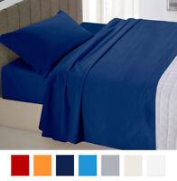 Completo letto SINGOLO 1 PIAZZA cotone set lenzuola federe tinta unita + colori