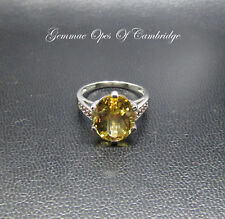 9ct Gold Citrine and Orange Topaz Ring Size N 1/2 3.7g 5.29 carats