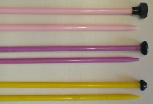 4mm (8 gauge) PATONS BEEHIVE Knitting Needles - Plastic - choose length