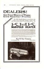 1920 ad Vintage Car part KHK Ford Manifold Heater Goodrich valve cut out Choke