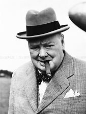 VINTAGE PHOTO WINSTON CHURCHILL CIGAR PRIME MINISTER BRITAIN POSTER LV11455