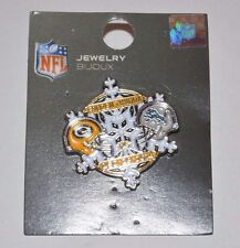 Detroit Lions VS Green Bay Packers Dec 28, 2014 NFL Game Day Pin Frozen Tundra