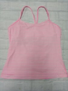 Lululemon Womens Workout Gym Yoga Workout Top in Pink Size 10