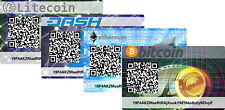 4er Set Card Wallet Cryptocurrency Multipack Bitcoin Dash Ethereum Litecoin