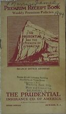 1943 PRUDENTIAL LIFE INSURANCE COMPANY OF AMERICA PREMIUM RECEIPT BOOK