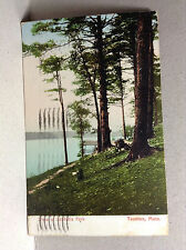 Lake Sabbatia Park Taunton Bristol Co Mass Antique/Vtg Postcard Posted 1922