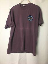 Vtg 90s Quicksilver T Shirt Tribal Surf Plum Purple Mens L 42�