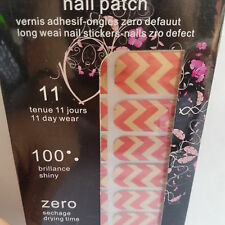 16 Red & Gold Nail Patch Foils with Zigzag Design