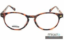 NEW Miasto Retro Round Keyhole Rx Optical Spectacle Eyeglasses Frames~ TORTOISE