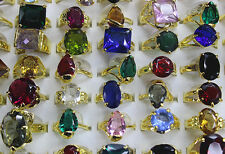 60pcs Wholesale Mixed Lots Charming Imitation CZ Gold P Rings Free P&P EH368