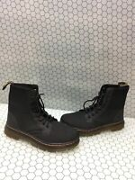 Dr. Martens COMBS Gray Canvas Lace Up Ankle Boots Men's Size 9  Women's 10