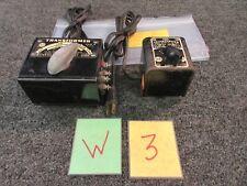 2 MARX HO MODEL TRAIN POWER DC HOBBY TRANSFORMERS 30W 45W 1249 319 VINTAGE