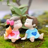 1 Pair Sweety Lovers Couple Figurines Miniatures Fairy Garden  Moss Terrarium