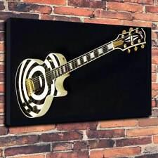 """Zakk Wilde Gibson Guitare, Haute Qualité Toile imprimée A1.30""""x20 """"Deep cadre 30 mm"""