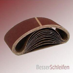 Schleifbänder Schleifband 65x410 mm Körnung wählbar P40 P60 P80 P100 120 180 240