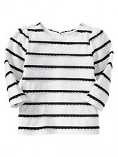 GAP Baby Girl 0-3 Months NWT Nautical White / Navy Scallop Stripe Shirt