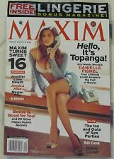 MAXIM Sexy DANIELLE FISHEL Hot LINGERIE SPECIAL New Shrink Wrapped BOTH MAGS Fox