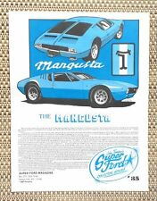 FORD De Tomaso MANGUSTA SHELBY AMERICAN PANTERA CAR LITERATURE FACT SHEET 35