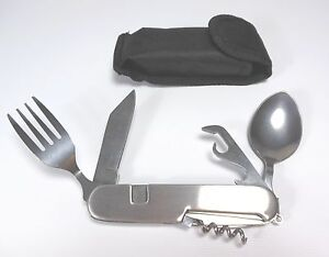 Multi Function Camping Utensil Tool 7-in-1 Detachable Knife Fork Spoon Emergency