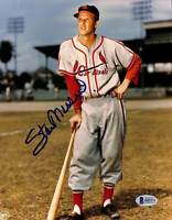 Cardinals Stan Musial Authentic Signed 8x10 Photo Autographed BAS 2