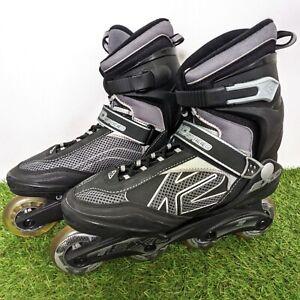 K2 Exo Speed Inline Skates 80a - 80mm - UK Size 9 - EUR - 43.5 - Black - Silver