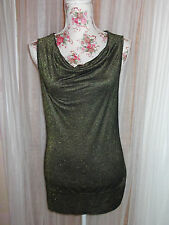 17&Co Collection Size M Ladies Black & Gold Sparkle Sleevless Top