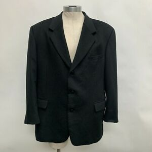 Andrew Fezza New York Men's Blazer Jacket 46R Black 100% Cashmere