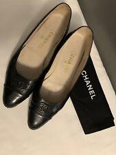 Vintage Chanel CC Logos pumps shoes Size 8.5