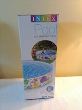 New Intex 6ft Snapset Pool 6ft x 1ft x3in Kiddie Swimming Pool #58450Wa