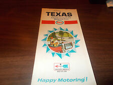 1968 Enco TEXAS Vintage Road Map
