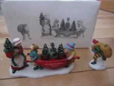 Dept 56 Heritage Village Delivering The Christmas Greens Elves Gnomes Mrs Claus